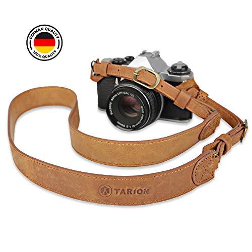 TARION TSN-L2 Camera Strap Handmade Genuine Leather Camera Neck Strap for DSLR SLR Mirrorless Film Cameras Vintage DSLR Neck Strap Length Adjustable Camera Shoulder Strap