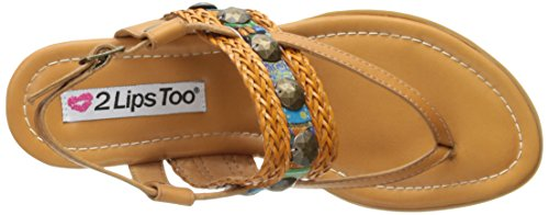 Tan Mystery Flat Too Too Women Sandal 2 Lips qwPOIxq0