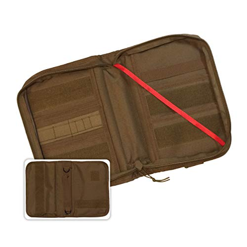 Military Style Medium Bible Cover & Organizer for Men - Personalize Your Camo Bible Case with Morale Patches That Reflect Your Beliefs. (Coyote Brown)