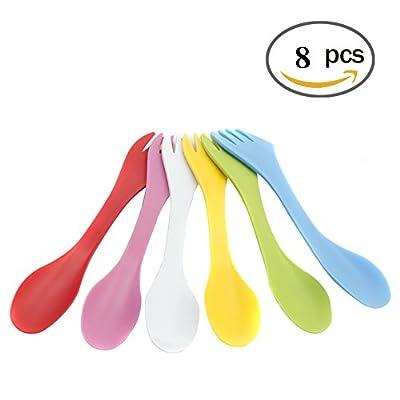 5 Spork Of Steel Utensils Set   Durable & Rust Proof Stainless Steel   Spoon, Fork & Knife Flatware