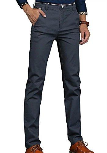 Wxian Men's Casual Pants Straight-Leg Cotton Trousers (Gabardine Straight Leg Pants)