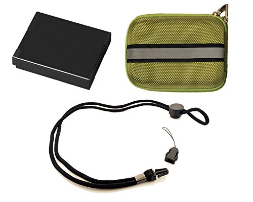 Stuff I Need Package for Nikon 1 J4 Digital Camera - Includes: EN-EL22 High Capacity Replacement Battery + Deluxe Hard Shell Padded Case + Neck Strap by Digital Nc