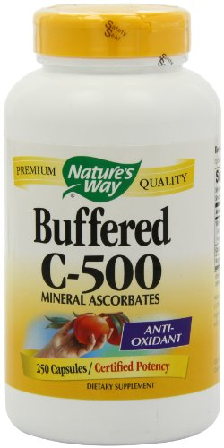 Nature Way tampon C 500 Ascorbate, 250 Capsules