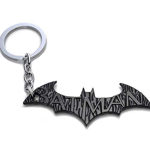 OK-STORE Bat Symbol Key Chain Zinc Alloy Keychain Bat Shape Metal Key Ring Tag for Your Autos, Home or Boat