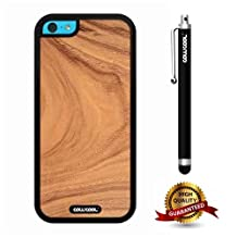 iphone 5C Case, Wood Texture Case, Cowcool Ultra Thin Soft Silicone Case for Apple iphone 5C - Root Slice Wood Texture