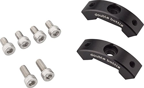 Wolf Tooth Components B-RAD Double Bottle Cage Adapter Black, One Size - Cage Adaptor