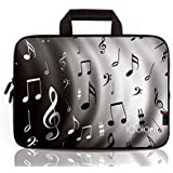 """iColor-Fashion Music Notes 17""""-17.3"""" Inch Laptop / Notebook Computer / MacBook / MacBook Pro Case Briefcase Bag Pouch Sleeve Carry Case (IHB17-002)"""
