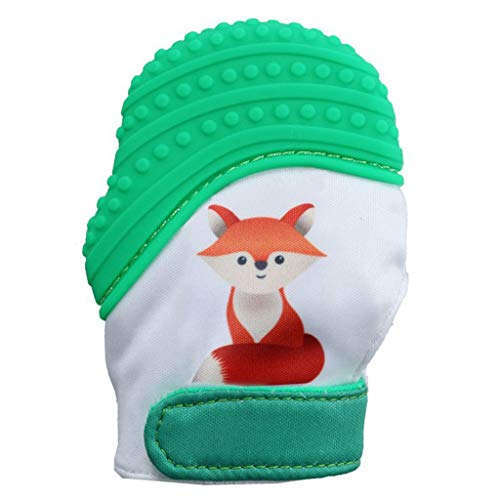 Zohto Sale Sport 2019 Spring New Design Baby Silicone Fox Mitts Teething Mitten Molars Glove -