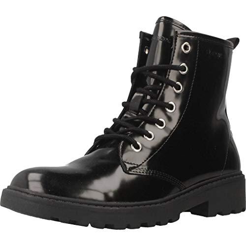 Negro Niñas C9999 black Geox Para K Botas J Casey Militar wvwq7U0x