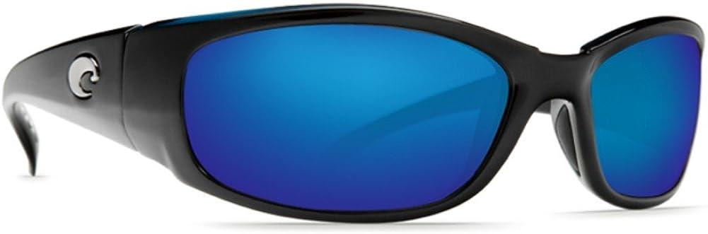 Frame Hammerhead Costa Del Mar Sunglasses Glass Polarized Blue Mirror Wave 580 Glass Shiny Black Lens