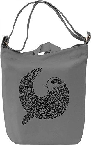Bird Borsa Giornaliera Canvas Canvas Day Bag  100% Premium Cotton Canvas  DTG Printing 
