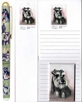 New Schnauzer Dog Magnetic Refrigerator List Pad Set of 2 Pads Schnauzers MSH-2