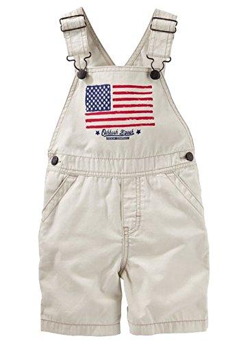 OshKosh Baby Boys Patriotic Flag Shortalls - (Size - 24 Months)