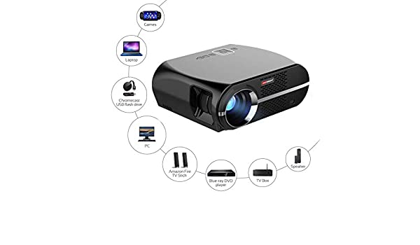 Proyector de vídeo GP100,3500 lúmenes LCD 1080P Full-HD LED ...
