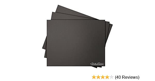 Pack of 3 Black 8 x 10 Rectangle 8 x 10 Rectangle Ideal Jacobs Corporation BT08x10-3PK BuildTak 3D Printing Build Surface