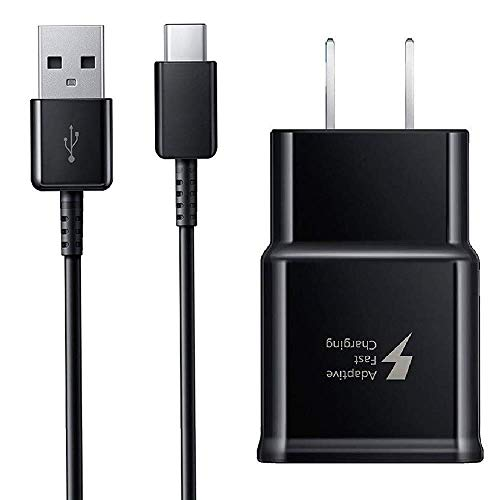 Adaptive Fast Wall Charger for Samsung Note 9 4 Ft Type-C to USB Cable Set for Galaxy S9, Galaxy S8, Note 8, S9 Plus, Quick Charger by BoxGear(Fast Wall Charger + Type-C Cable) Charge up to 50% Faster