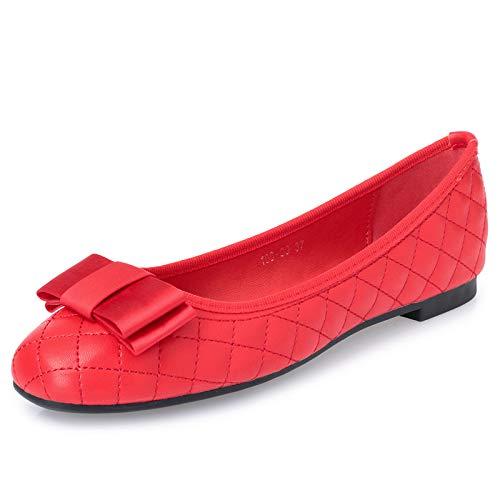 Los la Zapatos red Suave de del Boca Planos Parte de Inferior de Zapatos del la Boca Respirable la Zapatos los Danza de Arco FLYRCX Trabajo Forman Zapatos señoras cómodos la de d6Awnxgqf