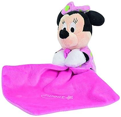 Disney Doudou - Manta para bebé con peluche (15 cm), diseño de Minnie