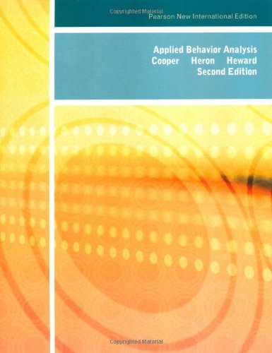 Applied Behavior Analysis by John O. Cooper (18-Jul-2013) Paperback (Cooper Heron And Heward Applied Behavior Analysis)