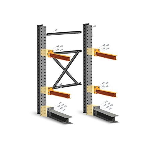 Cantilever Rack Starter Kit - Single Sided - 16'H x 8