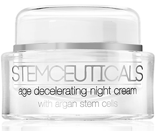 STEMCEUTICALS - The BEST Anti-Aging Night Cream – Clinical Strength Argan Plant Stem Cells + Vitamin C + Hyaluronic Acid + 5% Vitamin A - Next Generation Amino Peptides - Organic Formula. STEMCEUTICALS Age Decelerating Night Cream Works while you s
