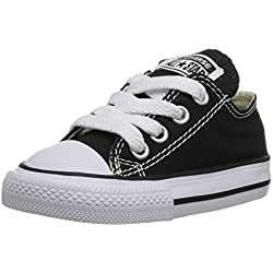 Converse Kid's Chuck Taylor All Star Low Top Shoe, Black, 2 M US Infant