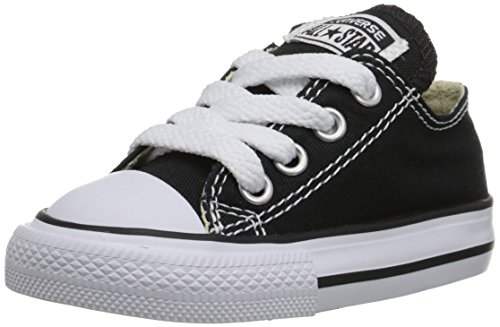 Converse Kids' Chuck Taylor All Star Canvas Low Top Sneaker, Black, 6 M US Toddler by Converse