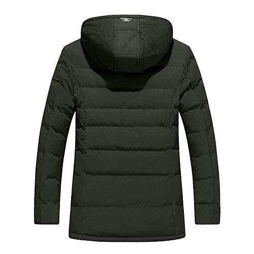 Capuche Noir Doudoune vert Casual Longue overdose Soldes Homme Jacket Hiver Veste À Coat C Manteaux Hoodie wBEdwt