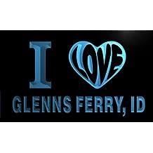 v53043-b I Love GLENNS FERRY, ID IDAHO City Limit Neon Light Sign