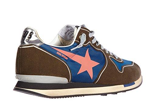 Golden Goose scarpe sneakers donna camoscio nuove running blu