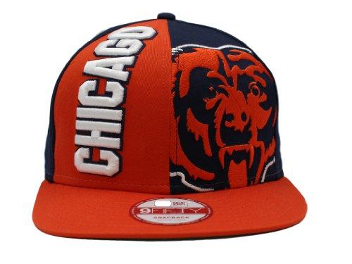Baseball Jersey Bear (NFL New Era Chicago Bears Nice Cap 9FIFTY Adjustable Snapback Hat - Orange/Navy Blue (Medium/Large))