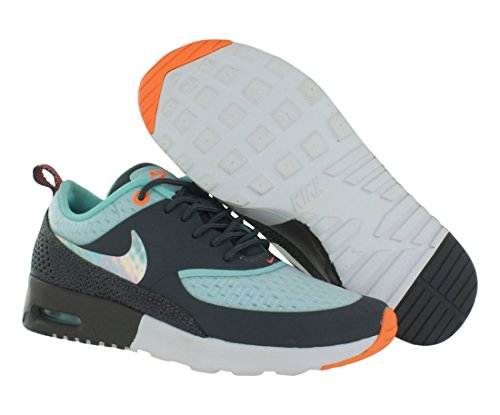 SCARPE DONNA NIKE WMNS AIR MAX THEA PRM 616723 (36 - 101 GREY-BLUE-ORANGE)