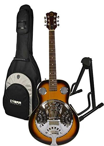 Resonator Guitar, Stand and Gig Bag by Bryce
