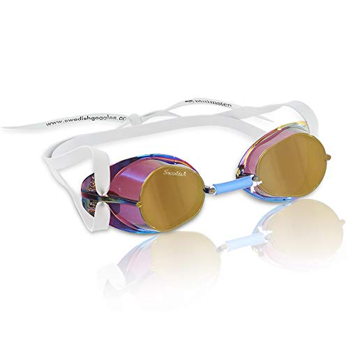Original Swedish Goggle - Original Swedish Mirrored Swim Goggles Gold