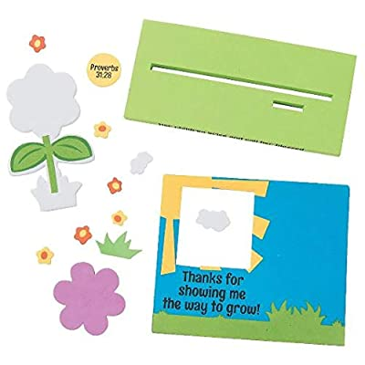 Humble Things Mothers Day Religious Theme Kids Craft Kits (4) Frame Magnet, Ornament, Flower Pic, Desk Frame: Toys & Games