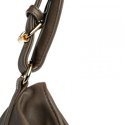 CASPAR Fashion - Bolso cruzados para mujer Marrón - pardo