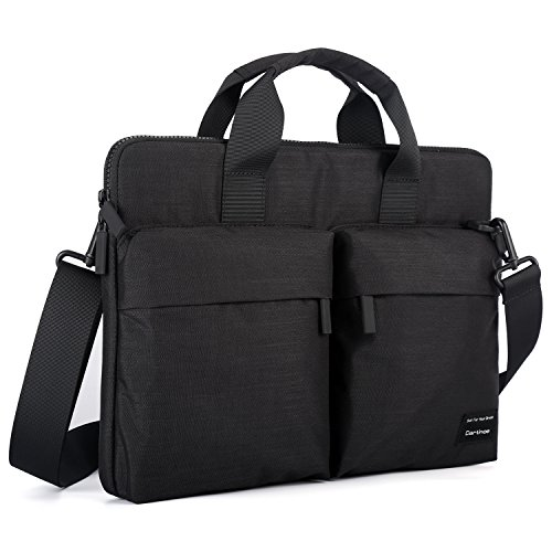 ng 15.6 inch Laptop Shoulder Bag, Business Briefcase Water Resistant Messenger Bag Carrying Case for ASUS X551MA, Dell Inspiron, Acer Aspire, HP Pavilion, Lenovo IdeaPad 15, Black ()
