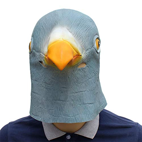 YLJYJ Mask Pigeon, Deluxe Novelty Halloween Costume Party Latex Animal Head for Kids Adults Fancy Dresses Masquerade Party Cosplay]()