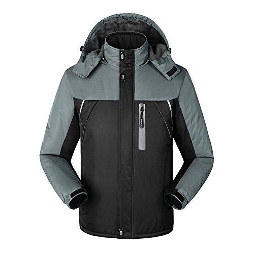 Lucao Outwear Windproof Thickening Climbing Coat Jackets Raincoat For Men/Women Black-XL