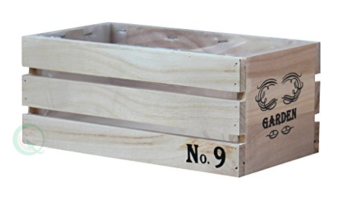 Distressed Wood Window Crate Planters (Small) by Gardenised