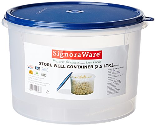 Signoraware Store Well Container, 3.5 Litres, Mod Blue Price & Reviews