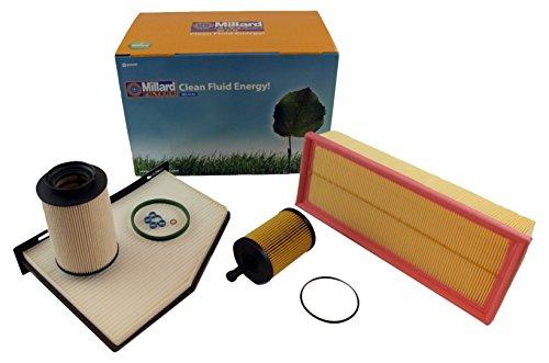 Millard Filters MZ-4143 - Kit de filtros para Leon 2, Octavia 2 y Golf 5