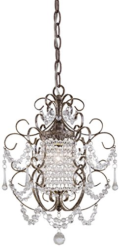 Minka Lavery 3121-333, 1 -Light Mini Chandelier, Westport Silver