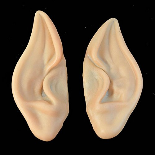 [1 Pair New Party Ears PVC Fairy Pixie Fake Elf Ears Scary Halloween Decoration Soft Pointed Prosthetic] (Elf Ears Halloween)