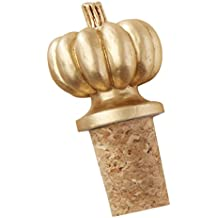 Kate Aspen Pumpkin Bottle Stopper, Gold
