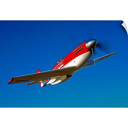 CANVAS ON DEMAND Scott Germain Wall Peel Wall Art Print Entitled Strega, a Highly Modified P 51D Mustang Used in Unlimited air Racing ()