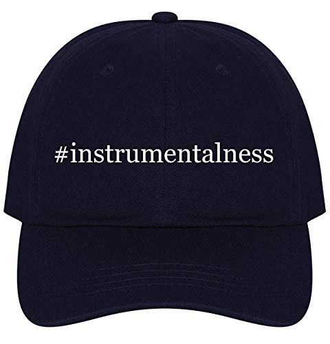 The Town Butler #Instrumentalness - A Nice Comfortable Adjustable Hashtag Dad Hat Cap, Navy, One Size