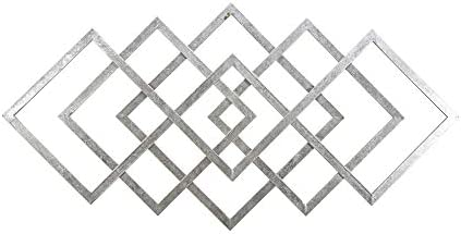 Sagebrook Home 14599-01 40″ Diamond Metal Wall Decor