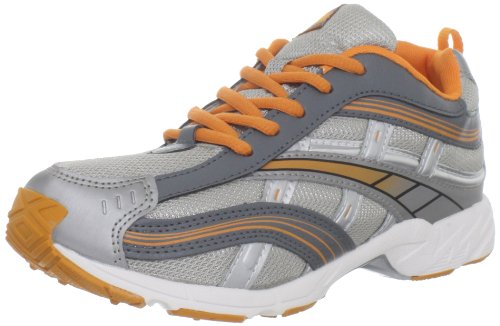 (Tsukihoshi YOUTH08 Lynx Sneaker (Little Kid/Big Kid),Silver/Orange,12 M US Little Kid)