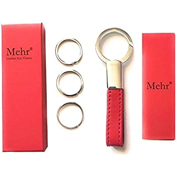 Amazon.com  Mehr Braided Leather Valet Key Chain for BMW Mercedes ... 4e8c2d142f1d